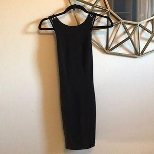 H&M Low back, black cocktail dress